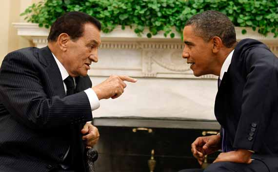 Mubarak and Obama