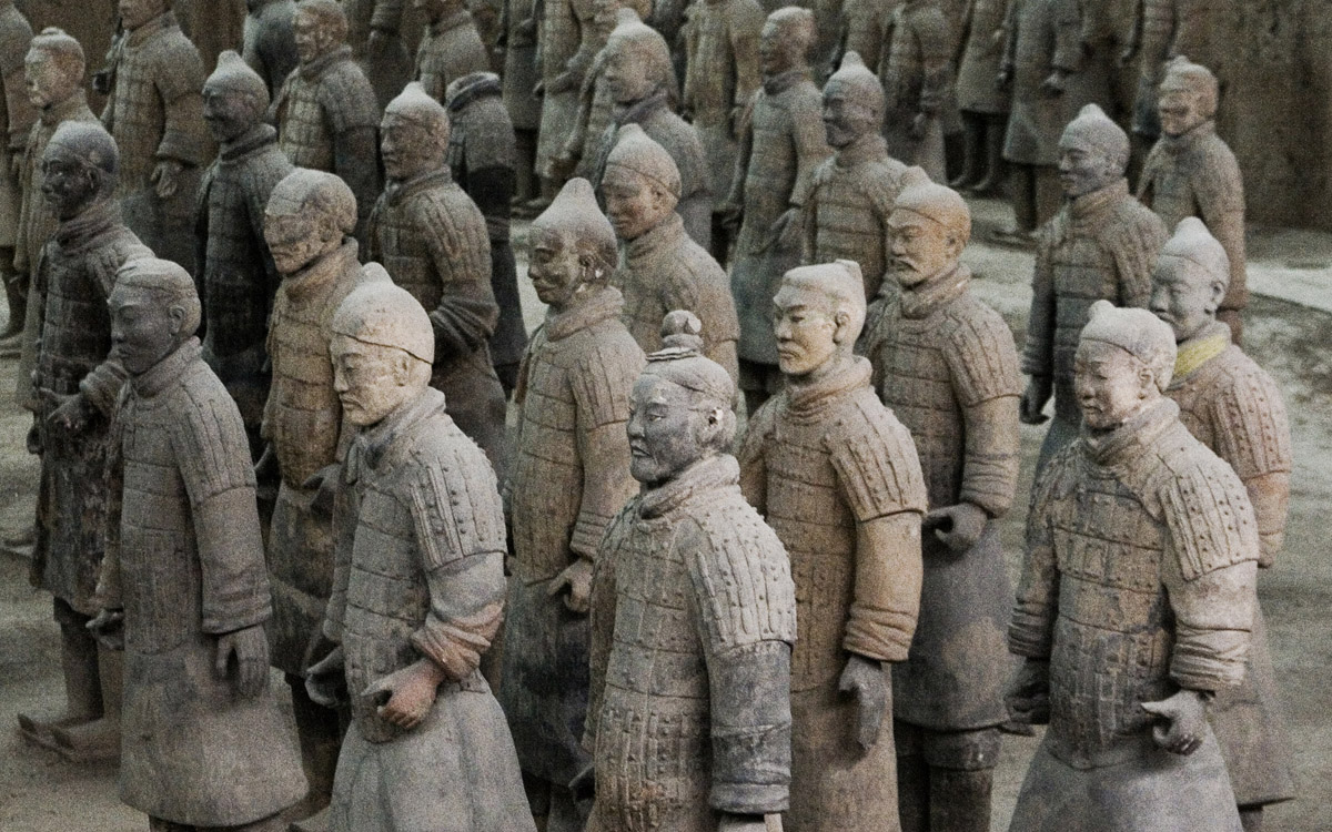 Image result for chinese soldiers in terracotta
